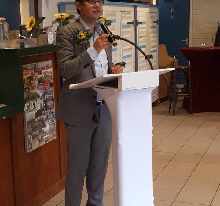 Speech van de voorzitter tijdens receptie 100-jarig bestaan